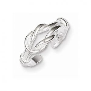 Sterling Silver Casted Small Polished Adjustable Love Knot