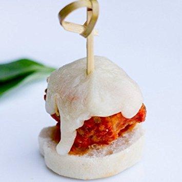 Italian Meatball Parmesan Skewer