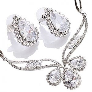 Stunning Pear Drops Swarovski Crystals Jewellery set of Distinction