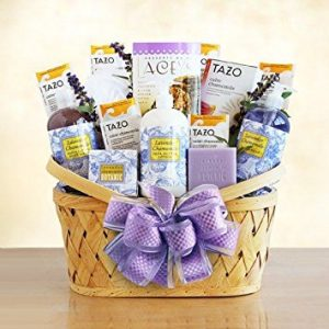 Relaxing Lavender Gift Basket for Women