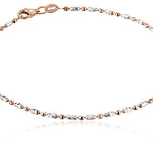 Italian Rose Gold-Tone and Polished Sterling Silver
