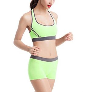Topmelon Women Yoga Bra Shorts Set