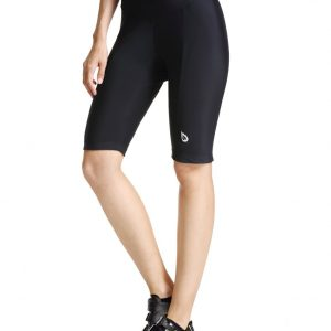 Baleaf Women's Cycling Padded Shorts Black UPF 50+