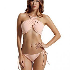 Zeraca Tie Side Bikini Swimsuits