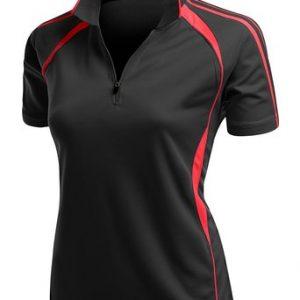 Coolmax 2 Tone Collar Zipup Polo T-Shirt