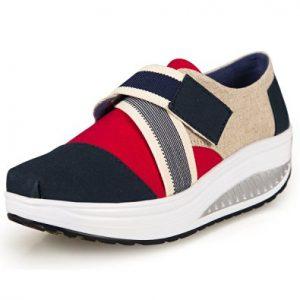 JARLIF Women's Shape Ups Canvas Walking Sneakers