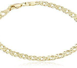 14k Yellow Gold Diamond-Cut Curb Link Bracelet