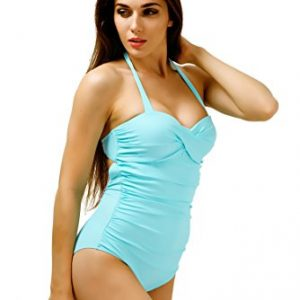 Retro Halter One Piece Bathing Suits