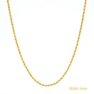 Gold Chain Necklace 24K Plated 1mm USA Made