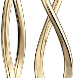 14k Gold Italian Infinity Drop Earrings