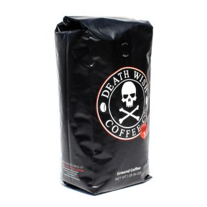 Death Wish Ground Coffee The World's Strongest Coffee, Fair Trade and USDA Certified