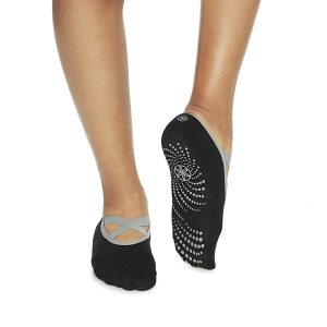 Gaiam Grippy Barre Socks, Black/Grey