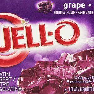 JELL-O Gelatin Dessert, Grape, 6 Ounce