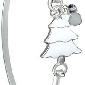 Christmas Jewelry Silver Tone Frosty White Christmas Tree