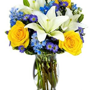 Bright Blue Skies Flower Bouquet