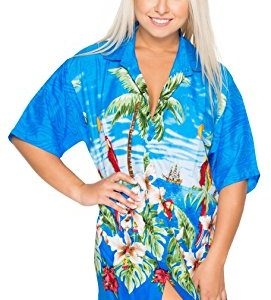 Aloha Parrot Theme Party Ladies Shirt