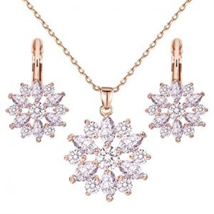 ewelry Necklace Earrings Set-Bestop