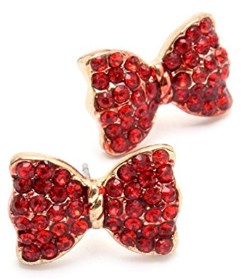 Christmas Holiday Bow Stud Earrings