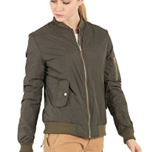 Women's Short Padded Biker Bomber Jacket