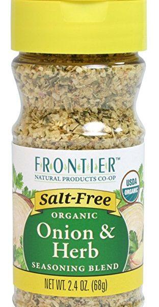 Frontier Salt Free Organic Seasoning, Onion and Herb