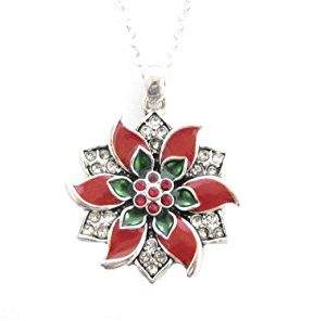 Necklace Red Green Crystal Jewelry Christmas