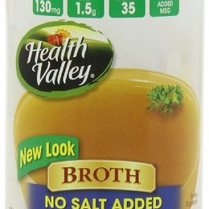 Health Valley No Salt Added Broth, Chicken