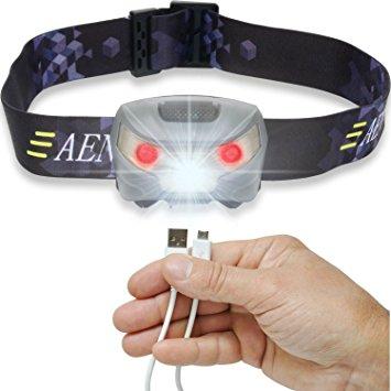 USB Rechargeable LED Headlamp Flashlight