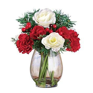 Christmas Flowers Evergreen Bouquet