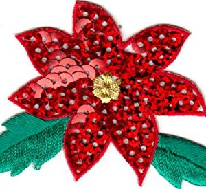 Traditions Christmas Sequin Poinsettia Flower
