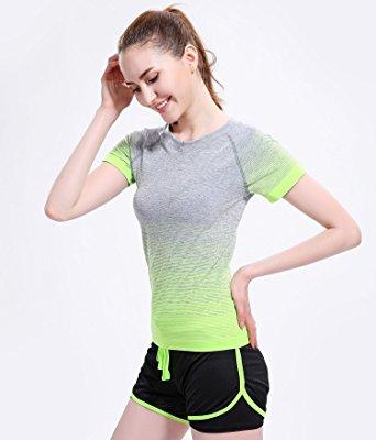 Running Yoga Tees Gym Sport T-shirt Tops