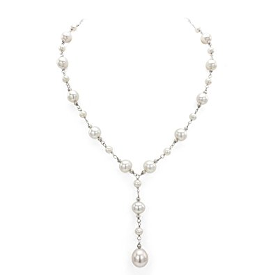 White Freshwater Cultured Pearl Station Necklace