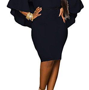 LaSuiveur Women's Batwing Sleeve V