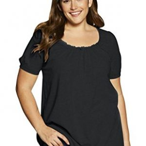 Women's Plus Size Shirred A-Line Tunic