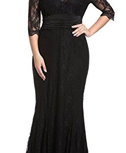 Anfee Women's Plus Size Lace Dress
