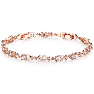 Bamoer Luxury Slender Rose Gold Plated Bracelet