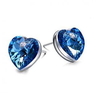Austrian Heart Crystal Fashion Stud Earrings