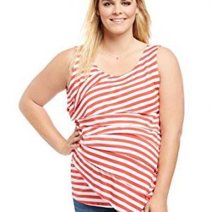 Motherhood Plus Size Tiered Maternity T Shirt