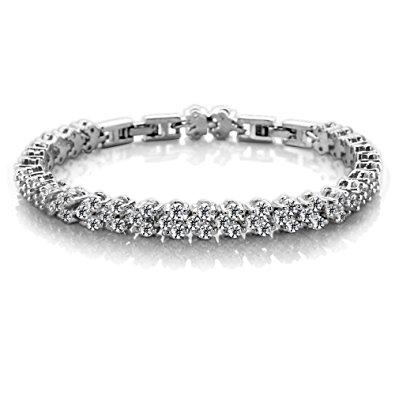 Luxury Cubic Zirconia White Bracelet