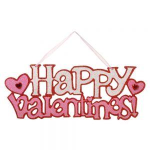 "Darice 214-129 Valentine's Day 15.25"" Happy Valentines Wall Sign"