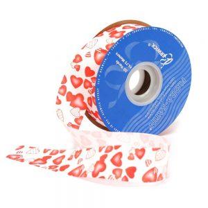 Shaded Hearts Flora-satin Craft Ribbon