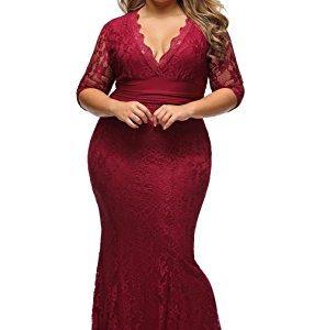 Lalagen Women's Plus Size 3/4 Sleeve