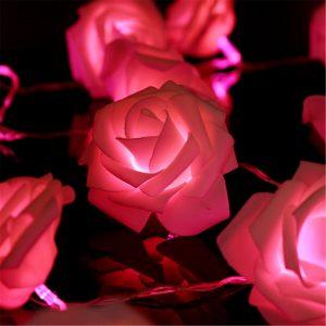 Battery Operated Rose Flower String Lights Wedding Garden Christmas Decor