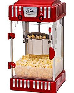 Popcorn Popper Machine, Retro-Style, Red
