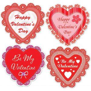 Happy Valentine's Day Lace Heart Cutouts