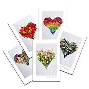 Love - Sea Glass Hearts Postcard