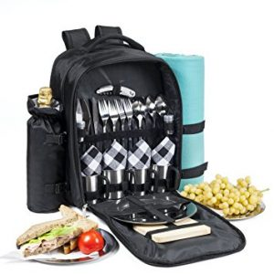 Picnic Backpack for 4 - All-In-One Set