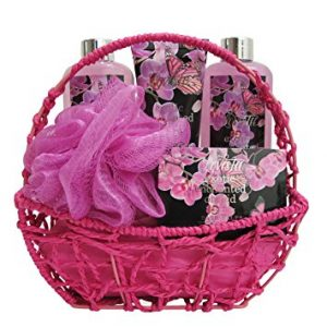 Spa Gift Basket, Spa Basket with Exotic Orchid