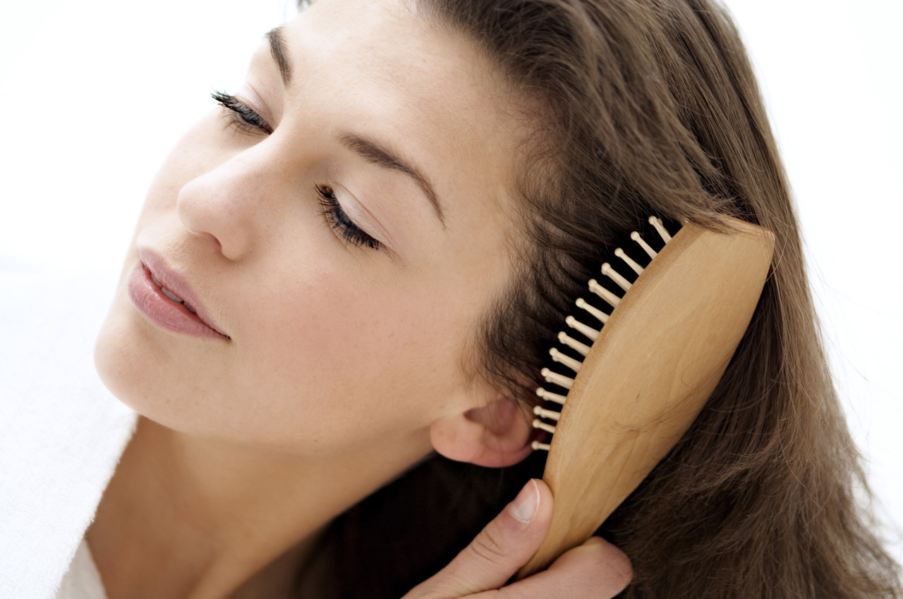 Image result for brushing hair roots