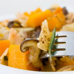 Roasted Butternut Squash with Sautéed Shiitake Mushrooms and Fresh Sage