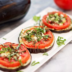 Baked Aubergines, Tomatoes And Feta